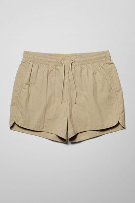 Weekday Tan Structure Swim Shorts - Black