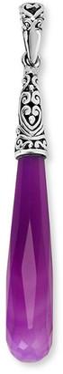 Samuel B. Silver Purple Quartz Elongated Pendant