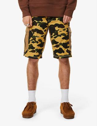 A Bathing Ape Camo-print mid-rise cotton shorts
