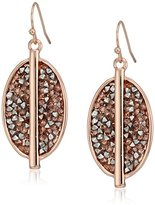 "Kenneth Cole New York Stone Cluster Rose Gold"" Mixed Sprinkled Stone Oval Drop Earrings"