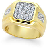 Macy's Men's Diamond Square Cluster Ring (1 ct. t.w.) in 10k Gold