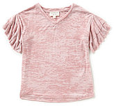 Blu Pepper Big Girls 7-16 Ruffle-Sleeve Top