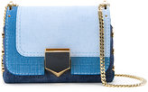 Jimmy Choo Petite Lockett denim shoulder bag - women - Cotton/Calf Leather - One Size