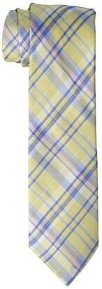 LAUREN Ralph Lauren Kids Madras Plaid Tie (Big Kids) (Yellow) Ties