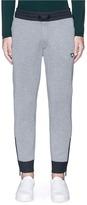 Armani Collezioni Zip cuff bonded jersey sweatpants