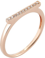 The Alkemistry Diamond Bar 14ct rose-gold ring