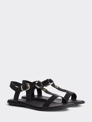 Tommy Hilfiger Leather T-Strap Sandal