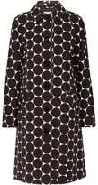 Michael Kors Polka-dot Cotton And Silk-blend Matelassé Coat - Black