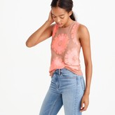 J.Crew Collection embroidered floral tank