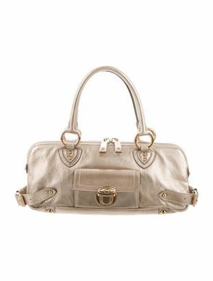 Marc Jacobs Metallic Leather Handle Bag Gold