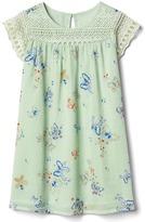 Gap Butterfly lace-yoke dress