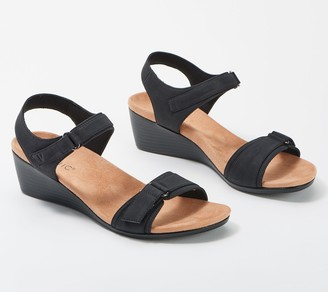 Vionic Ankle Strap Wedge Sandals - Adelaide