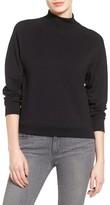Petite Women's Halogen Mock Neck Sweatshirt