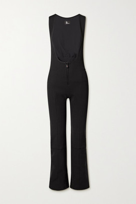 MONCLER GRENOBLE Tuta Shell-trimmed Stretch-twill Ski Suit - Black