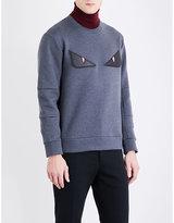 Fendi Bug eye cotton-blend sweatshirt
