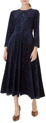 Hobbs London Neva Leopard Velvet Burnout Dress