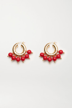 Eliou The Red Kavala Gold-plated Coral Earrings - one size