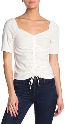 Elodie K Ruched Rib Knit Shirt