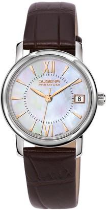 Dugena Premium Women's Quartz Watch Rondo Petit 7000155 with Leather Strap