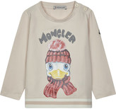 Moncler Duck print long-sleeved top 6-36 months