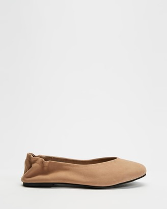 Walnut Melbourne Women's Brown Ballet Flats - Becca Leather Ballet Flats - Size 38 at The Iconic