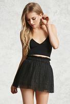 Forever 21 FOREVER 21+ Shimmery Tulle Mini Skirt