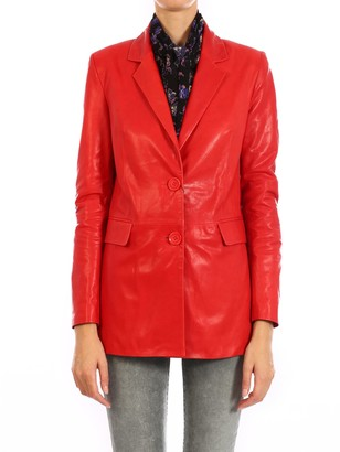 ARMA Red Leather Jacket