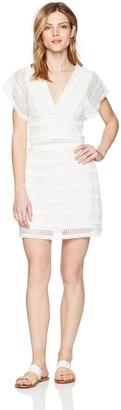 Ali & Jay Women's 2PC Fringe Sleeveless Vneck Crop Top and Mini Skirt