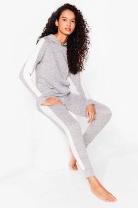 Nasty Gal Womens Workin' Line to Five Knitted Joggers Lounge Set - Grey - 6