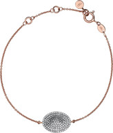 Links of London Concave rose gold and diamond bracelet