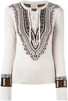 Laneus lace-up jumper - women - Polyamide/Viscose/Angora/Alpaca - 40