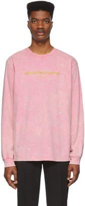 Alexander Wang Pink Gold Logo Long Sleeve T-Shirt
