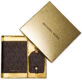 MICHAEL Michael Kors Passport Case & Luggage Tag Travel Box Set