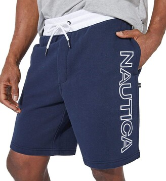 Nautica Big & Tall Fleece Logo Short Blue XLT