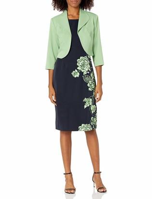Maya Brooke Women's Floral Print Dress with Jacket