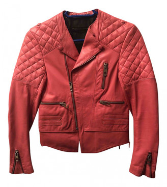 Balenciaga Pink Leather Leather jackets