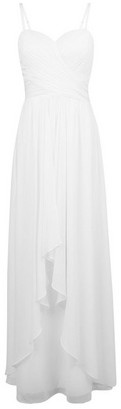 Dorothy Perkins Womens Showcase White Bridal Waterful Maxi Dress, White