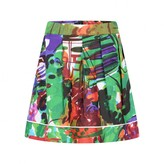 Marni MarniGirls Green Floral Patterned Cotton Skirt