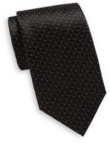 Saint Laurent Striped & Dotted Silk Tie