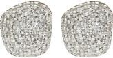 Monica Vinader Nura Nugget 18ct rose-gold vermeil and diamond earrings