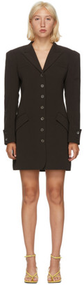 Situationist Brown Asymmetric Blazer Dress