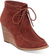 Lucky Brand Women's Ysabel Lace-Up Wedge Booties