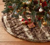 Pottery Barn Faux Fur Tree Skirt - Caramel Ombre