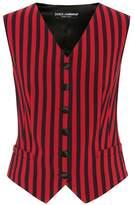 Dolce & Gabbana Striped silk-blend vest