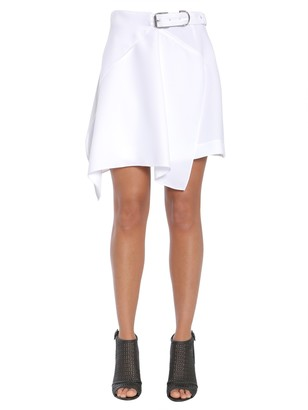 Carven asymmetric wrap effect skirt