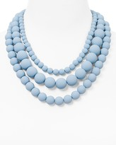 Aqua Bold Beaded Necklace, 17 - 100% Exclusive