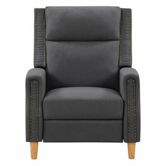 "CorLiving 30"" Manual Recliner Fabric: Dark Gray"