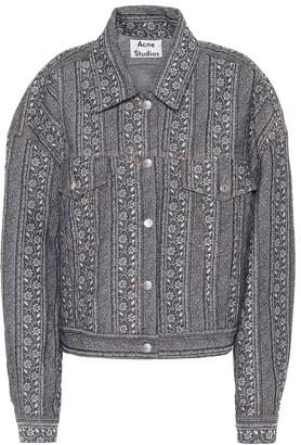 Acne Studios Floral jacquard denim jacket