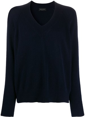 Roberto Collina Fine Knit V-Neck Sweatshirt