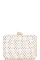Quiz White PU Gold Stud Box Bag